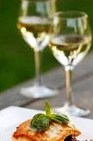 wine and fish